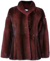 Oscar de la Renta shawl collar fur jacket