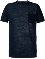 Roberto Collina perforated detail T-shirt - men - Cotton/Linen/Flax/Polyester - 48