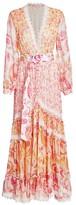 Rococo Sand Lace Trim Pailsey Maxi Dress