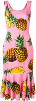 Dolce & Gabbana pineapple print peplum dress - women - Silk/Spandex/Elastane - 42