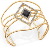 INC International Concepts Gold-Tone Stone and Pavandeacute; Openwork Cuff Bracelet, Only at Macy's