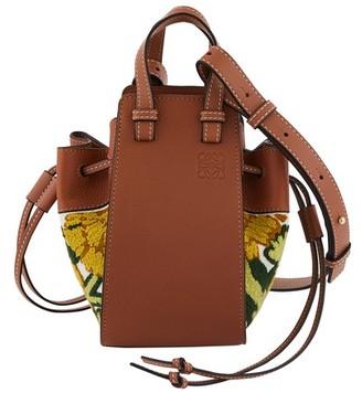 Loewe Hammock Drawstring Floral mini shoulder bag