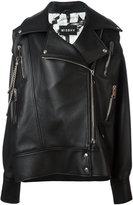 Misbhv - 'Desiress' biker jacket - women - Leather - XS