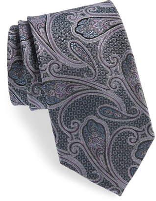 Nordstrom Paisley Silk X-Long Tie