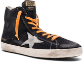 Golden Goose Deluxe Brand Suede Francy Sneakers in Blue Silver Star