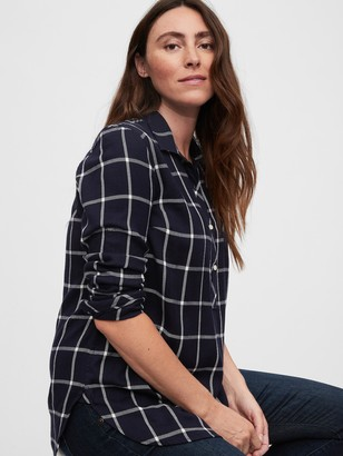 Gap Maternity Plaid Shirt