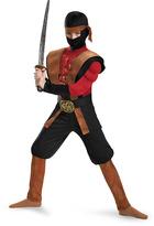 Disguise Brown & Red Ninja Warrior Dress-Up Set - Boys
