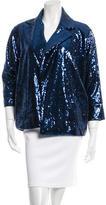 Diane von Furstenberg Short Didi Sequined Jacket