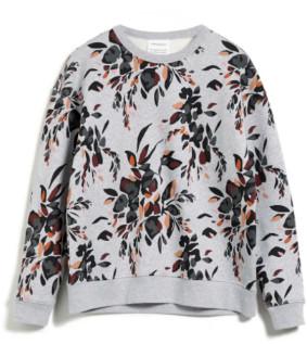 Armedangels Organic Cotton Kaamile Falling Leaves Sweater - large | organic cotton