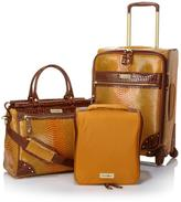 Samantha Brown Embossed Ombre Spinner 3-piece Luggage Set