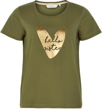 Nümph Military Olive Nuaziliz T Shirt 7220320 - S .