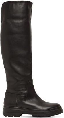 Max Mara 30mm Battlpv Fold-Over Leather Boots