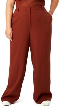 Danielle Bernstein Trendy Plus Size Straight-Leg Pants, Created for Macy's