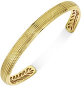 Esquire Men's Jewelry Textured Cuff Bracelet in 10k Gold, Only at Macy's