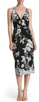 Dress the Population Women's Lucy Embroidered Midi Dress