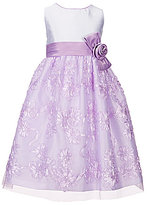 Jayne Copeland Big Girls 7-12 Floral Soutache Embellished Dress