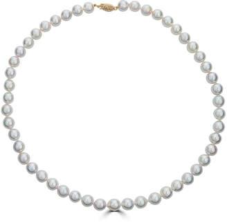 BELPEARL Elegant 14k Akoya Pearl Necklace, 8.5x8mm