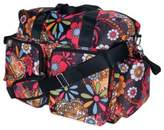 Trend Lab Deluxe Bohemian Floral Duffle Diaper Bag in Multicolor