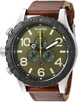 Nixon Men's '51-30 Chrono' Quartz Leather Watch, Color:Brown (Model: A1242334-00)