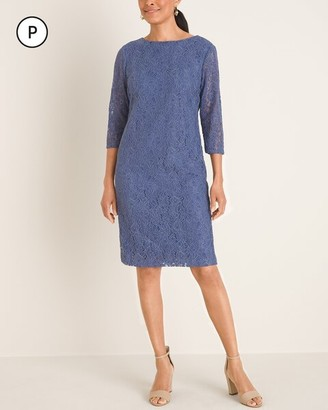 Chico's Petite 3/4-Sleeve Lace Dress