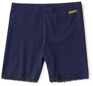 Matilda Jane Clothing Women's Casual Shorts - Navy Lace-Trim She's Got the Moves Shorts - Women