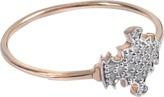 ginette_ny Diamond Tanger 18-karat rose gold ring
