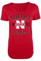 NCAA Juniors' Nebraska Cornhuskers Scoop-Neck Tee - Red