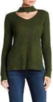 Planet Gold Gigi Marled V-Neck Knit Sweater
