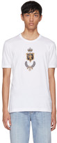 Dolce & Gabbana White Embroidered Crown T-Shirt