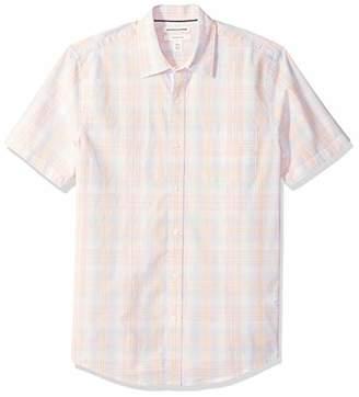 Amazon Essentials Slim-fit Short-sleeve Stripe Shirt Button,US (EU XS)