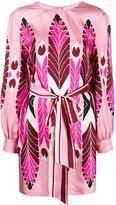 Valentino Pop Feathers print mini dress