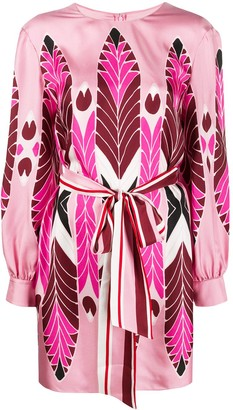 Valentino Pop Feathers print mini dress
