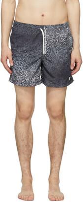 Bather Black and Grey Gradient Cheetah Swim Shorts