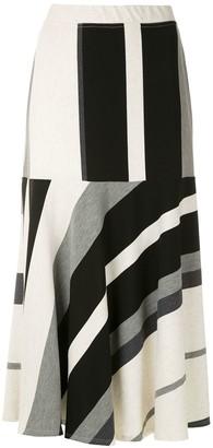 Alcaçuz Striped Flared Skirt