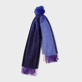 Paul Smith Women's Navy Ombré Lambswool-Cashmere Scarf