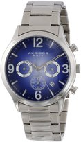 Akribos XXIV Men's AK607BU Ultimate Chronograph Dial Stainless Steel Bracelet Watch