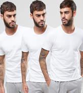 HUGO BOSS Boss By Crew T-Shirt 3 Pack In Regular Fit White