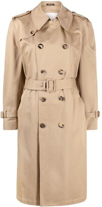 Maison Margiela Double-Breasted Belted Trench Coat