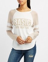 Charlotte Russe Basic Just Won't Do Football Tee