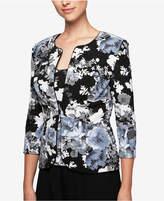 Alex Evenings Glitter Floral-Print Jacket & Shell