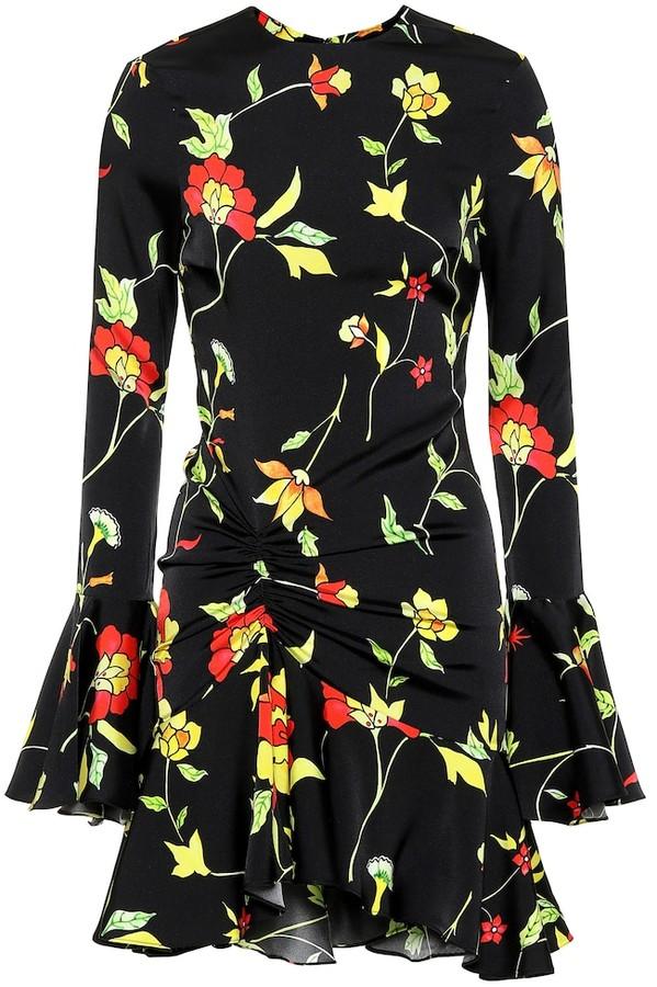 Caroline Constas Monique floral silk-blend dress
