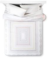 Xhilaration Multicolor Neutral Pastel Geo Border Comforter Set