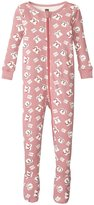 Tea Collection Geta Footed Pajamas (Baby) - Ginger Berry -6-12 Months