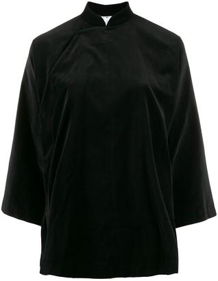 Comme des Garçons Comme des Garçons Mandarin Collar Velvet Shirt