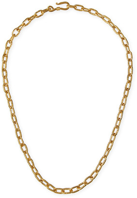 Dina Mackney Medium Hammered Oval-Link Necklace