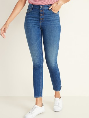 Old Navy High-Waisted Button-Fly Rockstar Jeans for Women