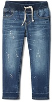 Gap Stretch paint splatter slim pull-on jeans