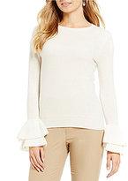 Antonio Melani Vera Ruffle Bell Sleeve Cashmere Sweater