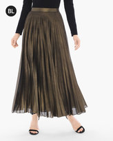 Chico's Metallic Pleat Skirt