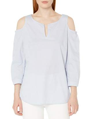 NYDJ Women's Agnes Cold Shoulder Top